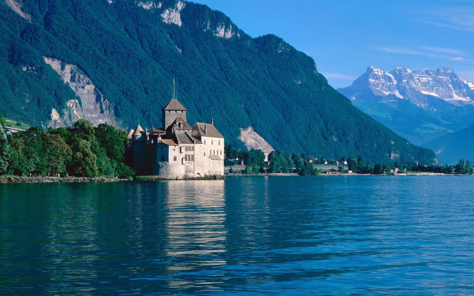 Замок швейцария вечер  № 2569434 бесплатно