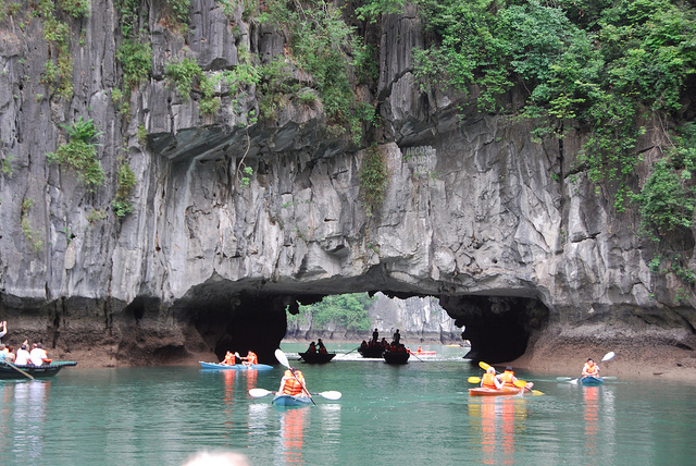 Vietnam and Cambodia Tour - kayaking in halong bay
