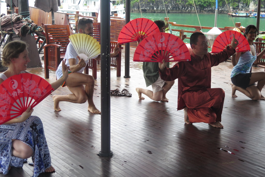 Vietnam and Cambodia Tour - tai chi lesson