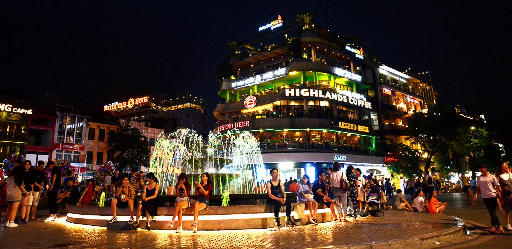 Night Fountain - Weekend in Hanoi