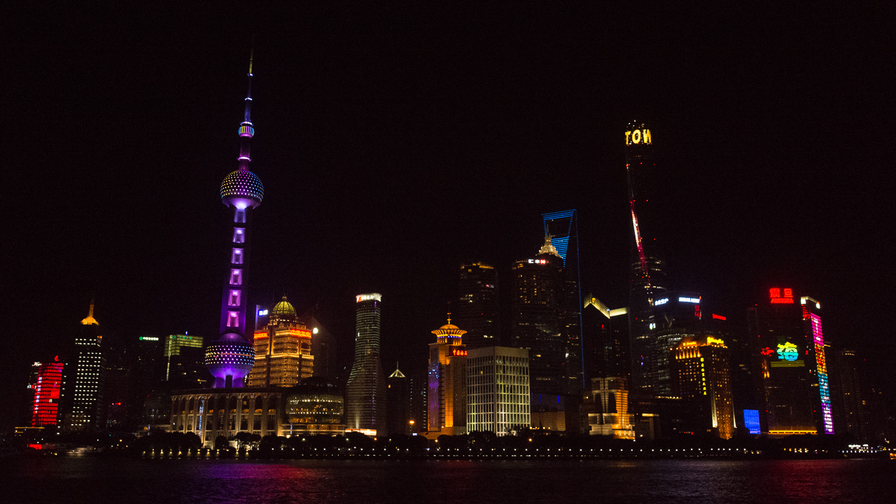 Shanghai night time